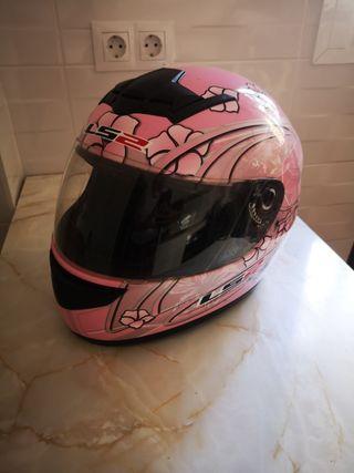 casco integral rosa talla xs