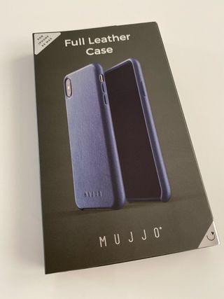 Carcasa de piel Mujjo Azul iPhone XS Max