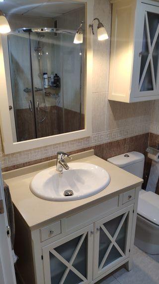 Mueble con lavabo ROCA+Espejo+Módulo colgar
