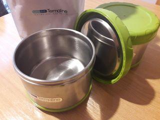 Set termo porta alimentos bebedue termaline 2UDS