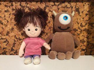Lote muñecos de peluche Mounstruos SA
