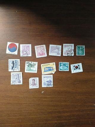 sellos de Corea del Sur