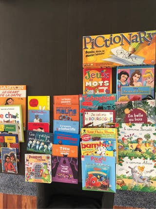 Libros y juegos en francés