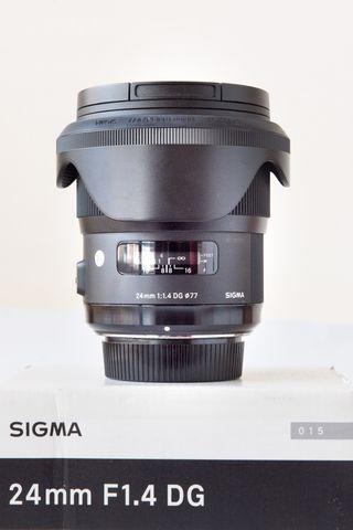 objetivo Sigma Art 24mm 1. 4 para Nikon