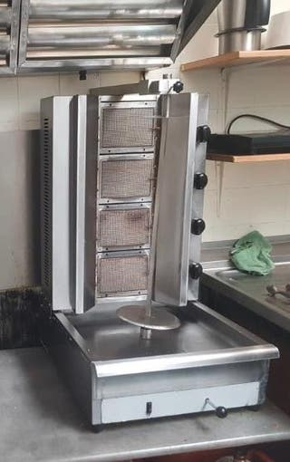 Maquina Kebab 4 fuegos butano