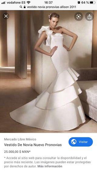 Vestido De Novia Pronovias De Segunda Mano En La Provincia