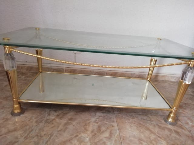 elegante mesa de cristal