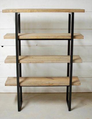 estanterias industriales madera y acero