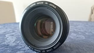 Objetivo Canon 50 mm 1.4 USM