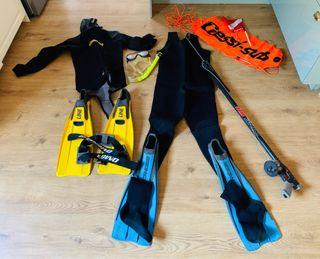 Equipo completo de pesca submarina