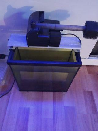 acuario y pantalla y filtro