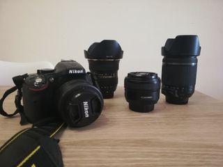 Nikon 5200 y 4 objetivos