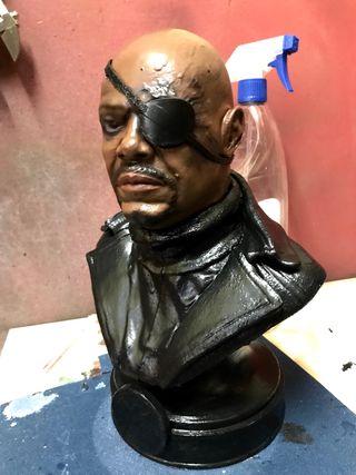 Busto Nick Fury Los vengadores samuel Jackson
