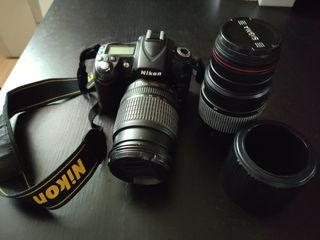 Nikon D90, objetivo Nikon y tele. Sigma, batería +