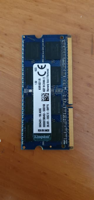 Memoria Ram 8Gb DDR3 Kingstom