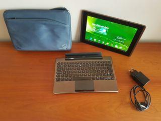Tablet ASUS TF101 + teclado + cargador + funda