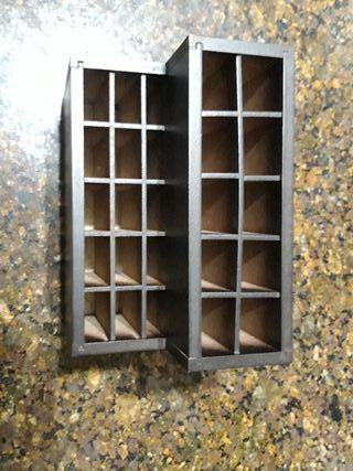Expositor madera para pinceles