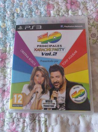 40 PRINCIPALES KARAOKE PARTY VOL 2 PS3