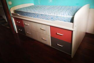 mueble cama infantil-juvenil
