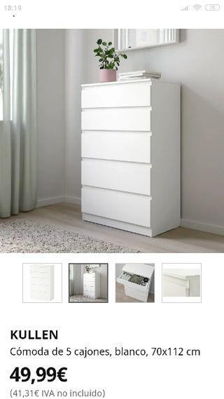cómoda ikea blanca 70 x 112 cm