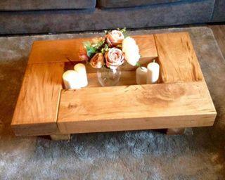 Mesas de centro madera 6 cm