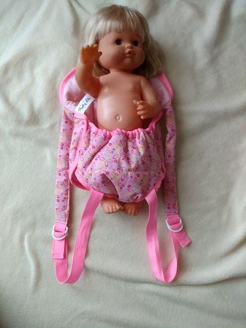 Saco porta muñecos , nuevo . Mochila bebé