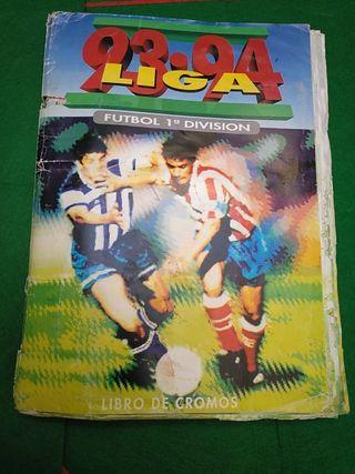 Álbum cromos fútbol Liga 93-94 Completo