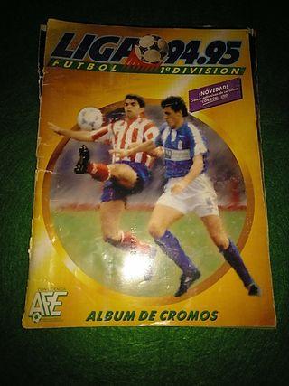 Álbum de cromos fútbol Liga 94-95. Completo.