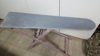 mesa de plancha madera restaurada muy antigua