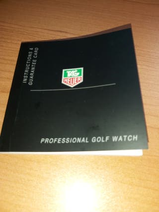 Instruciones tag heuer golf