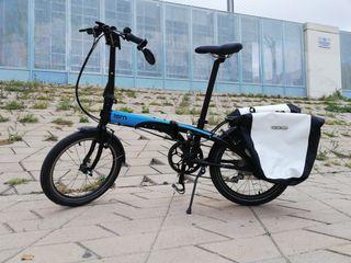Bici plegable Tern Link D8 con accesorios/mejoras