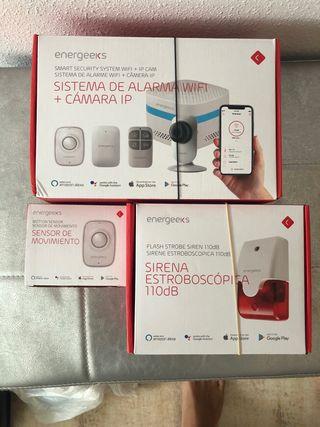 c/ámara IP Energeeks Sistema de Alarma WiFi