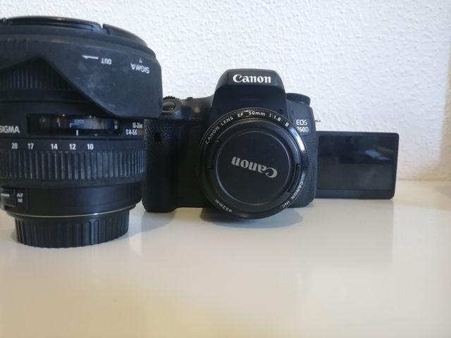 Cámara réflex Canon 760 D y equipo