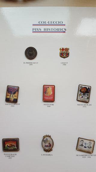 Coleccion historica pins y laminas del barça
