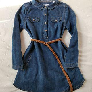 Vestido tejano niña 4 años Okaidi