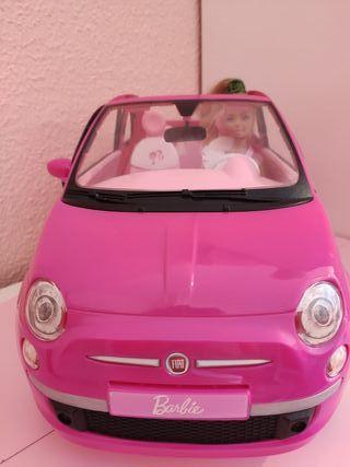 Coche Fiat 500 Barbie (incluye Barbie)