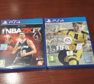 Juegos NBA y FIFA ps4