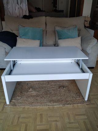 Mesa de centro elevable, mesita mueble salon