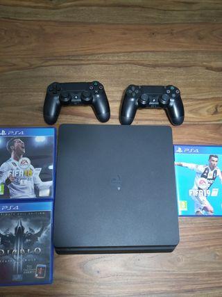 PS4 1tb + 2 mandos + 3 juegos