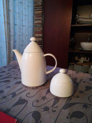 cafetera/tetera y azucarero porcelana austriaca