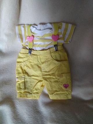 Conjunto pantalón y camiseta de Zapp para muñeco