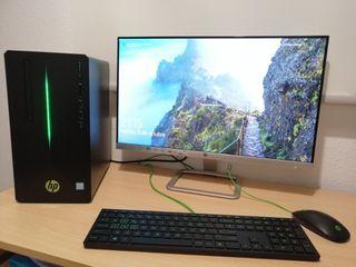 """Sobremesa HP Gaming + Monitor HP 24"""""""