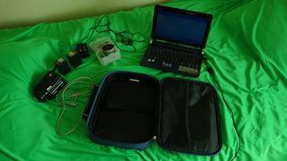 Video cámara +2 baterías+Notebook+gran angular+..