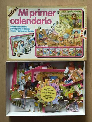 Puzzle En Madera Educa Mi Primer Calendario