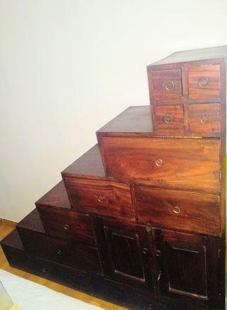 conjunto de muebles de madera de teca