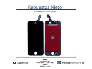 Pantalla iPhone 5S - SE en color negro