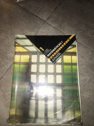 Libro de matemáticas, 1 bachillerato