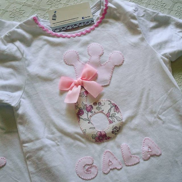 Short sleeve personalised birthday top for girls