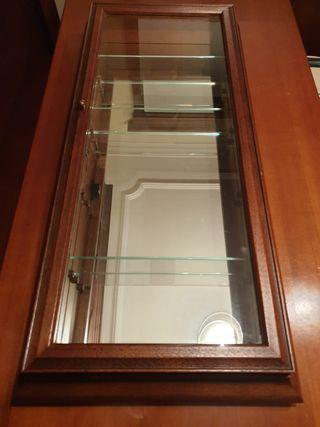 vitrina expositor de madera