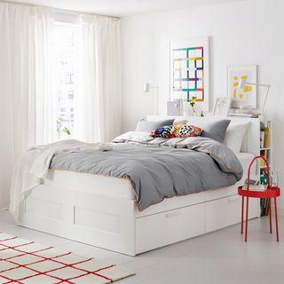 Cama completa linea BRIMNES Ikea blanca 150x200cm